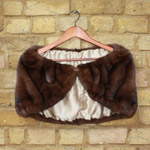 Mid brown mink shoulder cape/shrug