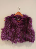 Pinky purple knitted fox gilet (without or with hood)