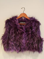 Dark purple knitted fox gilet (without or with hood)