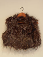 Brown knitted fox gilet (without or with hood)