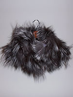 Knitted silver fox snood