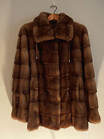 Scan glow mink jacket with drawstrings