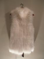 Feathered white fox gilet - Approx size: S,M,L - Price: £690 (Ref C291)