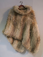 Natural coyote brown poncho
