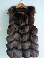 Long brown fox gilet