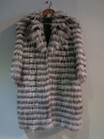Brown and grey raccoon and fox coat