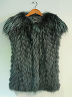 Feathered raccoon gilet