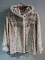 Pearl and blush pink mink jacket