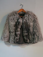 silver feather fox cape