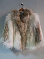 Sunglow knitted fox jacket