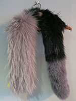 Popsicle fox scarf grey and black