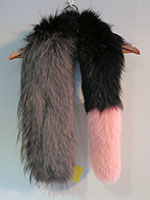 Popsicle fox scarf grey black and pink