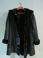 Reversible sheared mink coat with mink trim