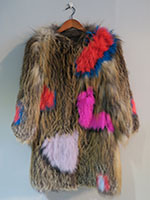 Knitted fox jacket