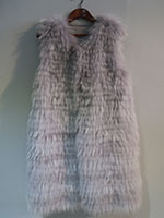 Feathered fox gilet