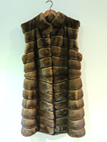 Mid brown mink gilet
