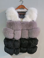3 colour fox gilet