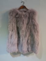 Dusky lilac knitted fox gilet