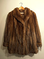 Short Russian sable coat