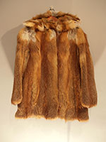 Red fox jacket with detachable hood
