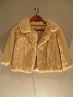 Cropped blond mink jacket