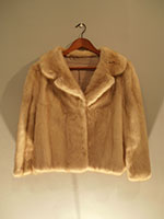 Short azurine mink jacket