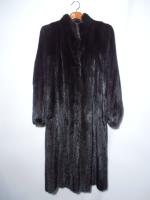 Black mink coat - Approx size: L/M - Price: £1,150 (Ref V447)
