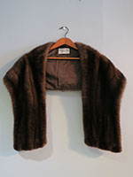 Dark brown mink wrap
