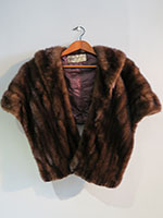 Dark brown mink wrap with pie crust detail