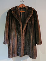 Mid brown mink jacket with belt