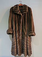 Pre-owned mid brown mink coat