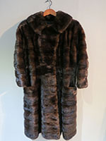Fitted mahogany mink coat