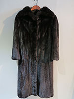 Mahogany mink swing coat
