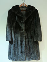 Black fitted mink coat