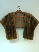 Chestnut brown mink wrap