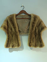Caramel mink wrap with pockets