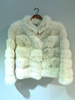 Pre-owned white fox jacket