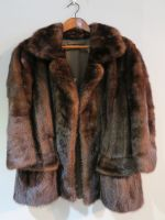 Balmain mink jacket dark brown