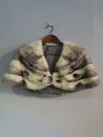 Crossed mink cape