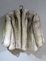 Fox jacket feathered detail