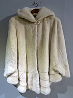 Pearl mink swing jacket