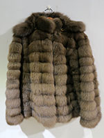 Russian sable jacket with detachable hood
