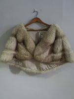 Silver and brown fox cape