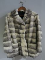 Crossed mink jacket
