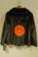 Saga Danish mink jacket with orange mink smiley